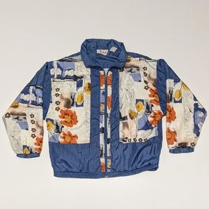 Vintage b.i. Gear Flower Windbreaker